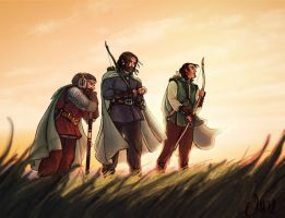 the_three_hunters_by_deisi-d7oh2zb